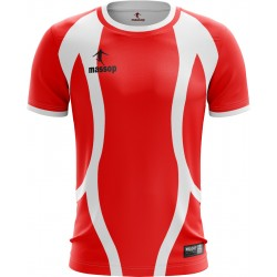 MAILLOT DE FOOT MASSOP ROUGE BLANC ANCHES COURTES