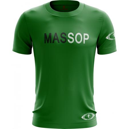 T-shirt manches courtes homme vert Massop