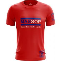 T-SHIRT MANCHES COURTES HOMME ROUGE CAP-VERT MASSOP