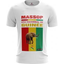 T-SHIRT MANCHES COURTES HOMME BLANC SILY NATIONAL DE  GUINÉE MASSOP