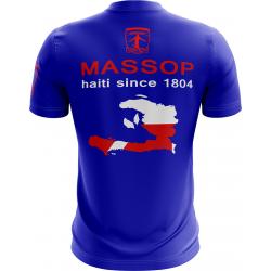 T-SHIRT MANCHES COURTES HOMME BLEU HAITI MASSOP