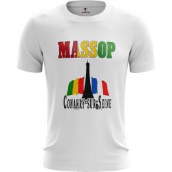 T-SHIRT MASSOP MANCHES COURTES HOMME BLANC