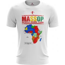 T-SHIRT MASSOP CARTE D'AFRIQUE MANCHES COURTES HOMME BLANC ROUGE JAUNE VERT COURTES HOMME BLANC ROUGE JAUNE VERT MASSOP