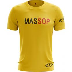 T-SHIRT MASSOP MANCHES COURTES HOMME JAUNE