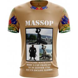 T-SHIRT HAITI MANCHES COURTES HOMME MARRON MASSOP