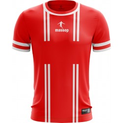 MAILLOT DE FOOT MASSOP ROUGE BLANC